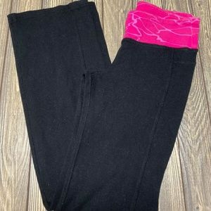Old Navy Active Wear Leggings Black Pink Bootcut M